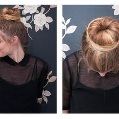 How to Do a Sock Bun. Easy tutorial for creating a sock bun (for when I have long hair again!). #divinecaroline #sockbun #hair #hairstyles