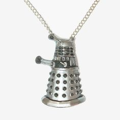 #doctorwho dalek http://www.etsy.com/listing/49157185/exterminate-silver-robot-pendant-and