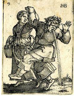 Dansend boerenpaar, man geeft over, Hans Sebald Beham, 1537 - Details-Collected Works of Marion McNealy - All Rijksstudio's - Rijksstudio - ...