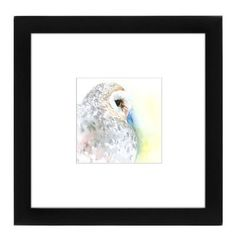 """East Urban Home Barn Owl Portrait by Suren Nersisyan Framed Painting Print Size: 9"""" H x 9"""" W x 1"""" D"""