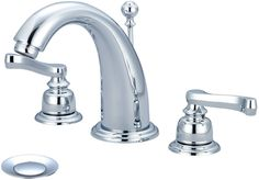 Brentwood Double Handle Deck Mounted Bathroom Faucet