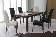 Essgruppe mit Tisch 160 x 90 cm Kernbuche nussbaumfarbig massiv lackiert / 6 Stühle Kunstleder Jetzt bestellen unter: https://moebel.ladendirekt.de/kueche-und-esszimmer/stuehle-und-hocker/esszimmerstuehle/?uid=99f8c344-1838-5370-8213-6a210a6e0b2c&utm_source=pinterest&utm_medium=pin&utm_campaign=boards #kueche #esstische #esszimmerstuehle #esszimmer #hocker #stuehle