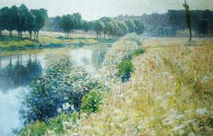 Emile Claus (1849-1924) - The River Leie, 1898