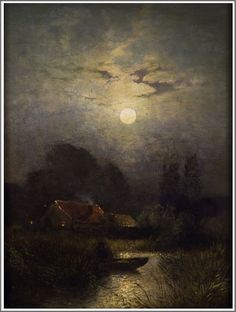 Sophus Jacobsen (1833-1912), Clair de Lune.