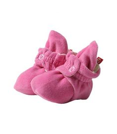 These are the only booties that will actually stay on baby's feet! Hot Pink Velour Baby Booties