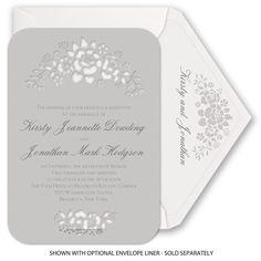 Floral Extravagance - Laser Cut Invitation