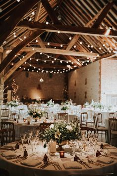 White and sage green wedding with copper decoration. Stylish luxury wedding with festoon lights. Barn Wedding Decorations, Barn Wedding Venue, Rustic Wedding Theme, Barn Wedding Lighting, Barn Wedding Flowers, Luxury Wedding Decor, Neutral Wedding Decor, Barn Wedding Dress, Barn Wedding Photos