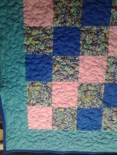 Front side of baby quilt.