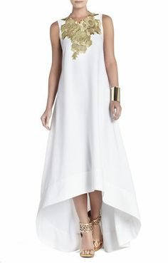 I always love something chic, easy and flowing. #BCBG Louisa High-Low Sleeveless Dress #loveit #fashion
