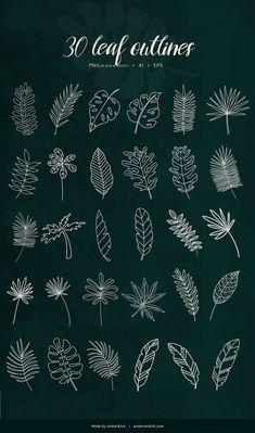 Doodle Patterns, Zentangle Patterns, Leaf Patterns, Floral Patterns, Illustration Design Graphique, Leaf Illustration, Creative Illustration, Floral Illustrations, Digital Illustration