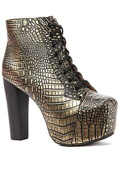 The Lita Shoe in Black and Gold Croc     <3                                                     $195.00