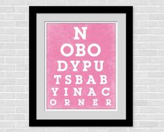 Dirty Dancing Eye chart movie art - Nobody puts baby in a corner - Dirty Dancing Poster Movie Print - 8 x 10 eyechart via Etsy Dancing Eyes, Dirty Dancing, Eye Chart, Movie Prints, Creativity Quotes, Dionne Warwick, Cross Stitch, Dance, Wall Art