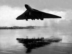 "british-eevee: "" Avro Vulcan taking off from an airfield (Date and location unknown) "" Military Jets, Military Aircraft, Air Fighter, Fighter Jets, Vickers Valiant, V Force, War Jet, Avro Vulcan, Aircraft Pictures"