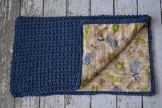 Reversible Crochet Baby Blanket...I like the idea.  I could make something like this!