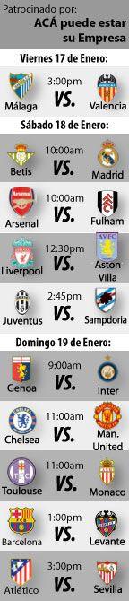 Fútbol Recomendado para este fin de semana: 17 al 19 de Enero.   http://blogueabanana.com/deportes/91-futbol/1285-futbol-recomendado-17-al-19-enero.html