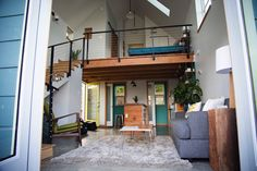 Check out this awesome listing on Airbnb: Bright, Modern Loft in North PDX - Houses for Rent in Portland Tiny House Hotel, Modern Tiny House, Modern Loft, Modern Rustic, Airbnb Accommodation, Tiny House Nation, Garage Remodel, Renting A House, Living Spaces