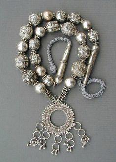 Yemen | Antique silver Bedouin necklace