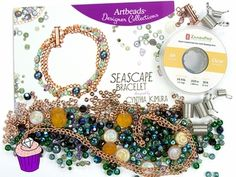 Seascape Bead Collection and Bracelet Kit by Cynthia Kimura