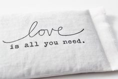 Love is all you need lavender sachet will carry your message on the sweet scent of organic lavender flowers. Made of soft cotton, this sachet makes a