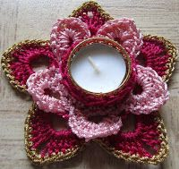 Sweet Nothings Crochet: FIVE LOVELY TEA LIGHT HOLDERS