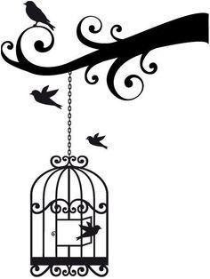 Bird Cage Vinyl Decal