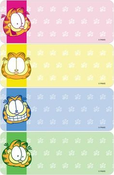 Garfield Cartoon, Garfield And Odie, Garfield Wallpaper, School Name Labels, Garfield Pictures, Printable Name Tags, Disney Names, Imagenes My Little Pony, Text Frame