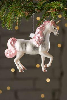 Glitter Unicorn Ornament--a must for the lover of unicorns!