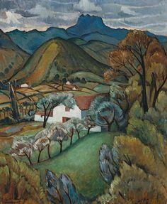 Roy de Maistre (Australian, 1894-1968), Farmhouse in the Pyrenees, c.1930. Oil on plywood, 60 x 49cm.