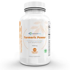AdvantaVita Turmeric Power - Turmeric Curcumin Organic Complex With Bioperine in Vegetarian capsules - 500 mg - 120 Capsules (40 days supply) - non-GMO - Black Pepper Extract for Enhanced Absorption ** To view further for this item, visit the image link. (This is an Amazon Affiliate link and I receive a commission for the sales)
