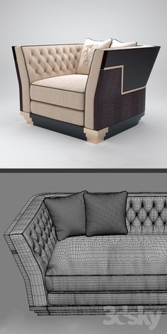 models: Other - Sofa and armchair Visionnaire Berry Capitone Corner Sofa Living Room, Living Room Sofa Design, Home Room Design, Living Room Designs, Craftsman Furniture, Hall Furniture, Luxury Furniture, Furniture Design, Luxury Chairs