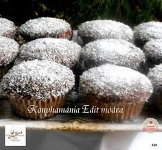 Kókuszkocka muffin Diabetic Recipes, Diet Recipes, Healthy Recipes, Filipino Desserts, Hungarian Recipes, Cookie Recipes, Cupcake, Food And Drink, Cookies