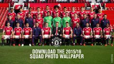 Official Manchester United squad photo 2015/16 - Official Squad Photos, Man United, Photo Wallpaper, Manchester United, The Unit, United Website, Soccer, Internet, Football