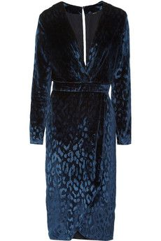Gucci Leopart velvet dress.  Net-a-porter.