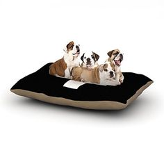 Kess InHouse Trebam Plus Fleece Dog Bed 30 by 40Inch Simple Black * Click on the image for additional details.