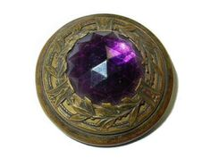 purple jewels | Antique Gay Nineties Button Purple Glass Jewel NBS Large ...