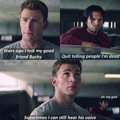 Funny Marvel Memes, Dc Memes, Marvel Jokes, Funny Memes, Funny Pics, Funny Stuff, Captain Murica, Captain America And Bucky, Avengers Movies