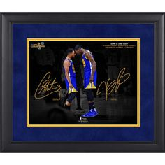 "Golden State Warriors Stephen Curry, Kevin Durant Fanatics Authentic Framed 11"" x 14"" 2017 NBA Finals Champions Celebration Spotlight Photograph - Facsimile Signature"