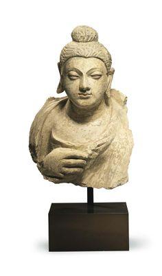 A stucco bust of Buddha Gandhara, 3rd/4th century
