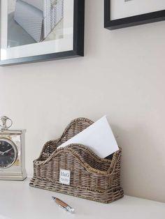 Briefablage Rattan Rattan Lampe, Organizer, Wicker Baskets, Weaving, House Styles, Storage, Kitchen, Home Decor, Garden