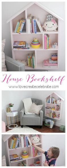 Tutorial to build your own DIY House-Shaped Bookshelf! Perfect for a child's bedroom, playroom or nursery :) I have another SUPER exciting project to share with…