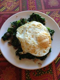 Sauteed Kale and Fried Egg