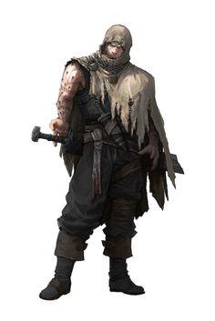 Character Concept Art: Warrior, Guillem Daudén on ArtStation at https://www.artstation.com/artwork/9Rq0R