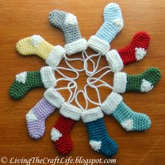 Christmas Stocking Ornament Crochet
