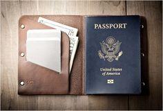 LEATHER PASSPORT WALLET | BY MR LENTZ
