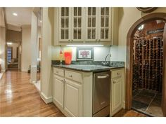 Wine room and wet bar off the kitchen
