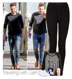 """Traveling with Liam"" by laura-mayne ❤ liked on Polyvore featuring Topshop, H&M, Smashbox, NIKE, women's clothing, women's fashion, women, female, woman and misses"