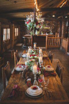 Pineceones At Rustic Wedding