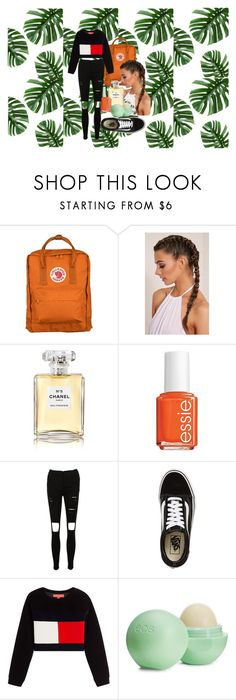 """untitled :)"" by gabriellavanda on Polyvore featuring Fjällräven, Chanel, Essie, Vans, Hilfiger Collection and Eos"