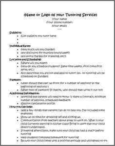 Tutoring Forms Packet for Private Tutors by The Inspired Counselor Tutoring Flyer, Tutoring Business, Reading Tutoring, Business Writing, Math Tutor, Teaching Aids, Reno, Learning Centers, Writing Services