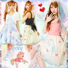 dreamv | Rakuten Global Market: 【M~LL】Pony print♪Jumper skirt with ribbon on the back